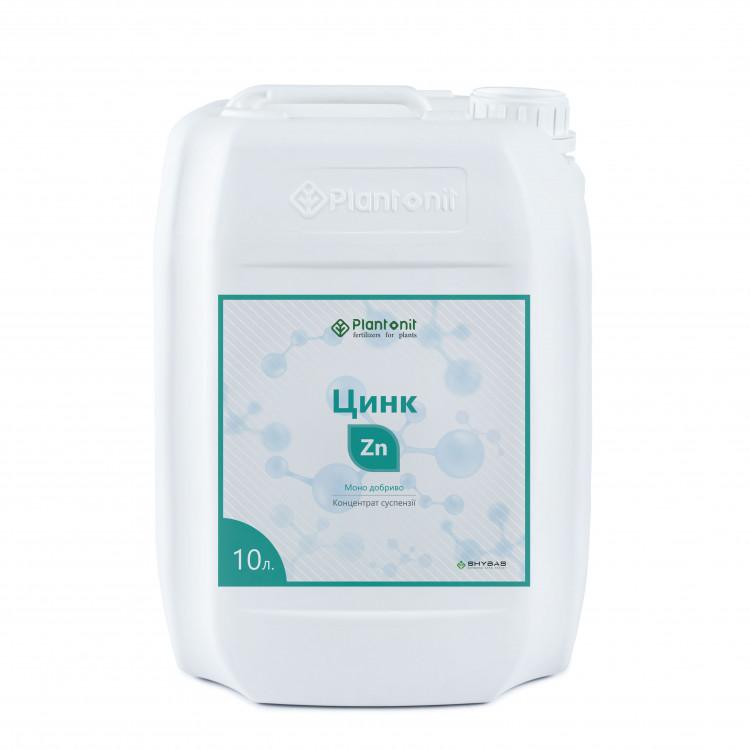 Плантонит Цинк - жидкое удобрение для профилактики и дефицита недостатка цинка в растениях.