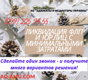 Ликвидация ФОП и фирмы оперативно с мин.затратами Харьков