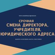 Смена директора, учредителя, юридического адреса ООО. Днепр